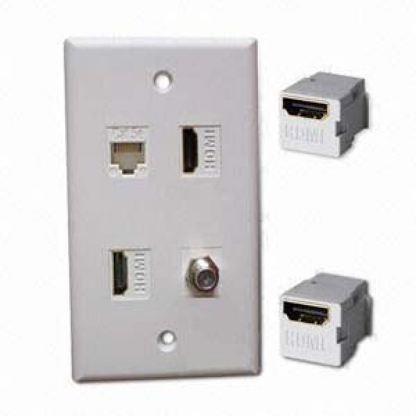 Network Hardware//Connector InstallerParts Snap-in BNC F//F Keystone Module White