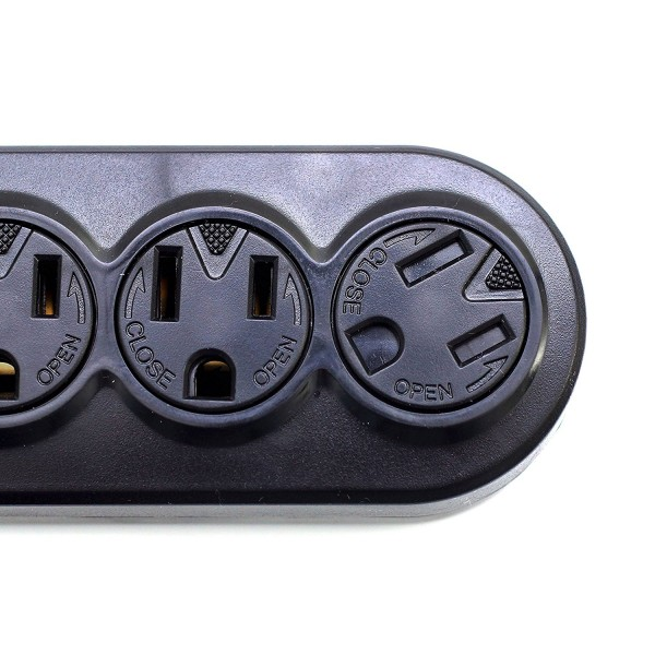 12Ft 6-Outlet Power Strip AC125V 14AWG Black Office or Home Plug Extension Prime Wire /& Cable 6583