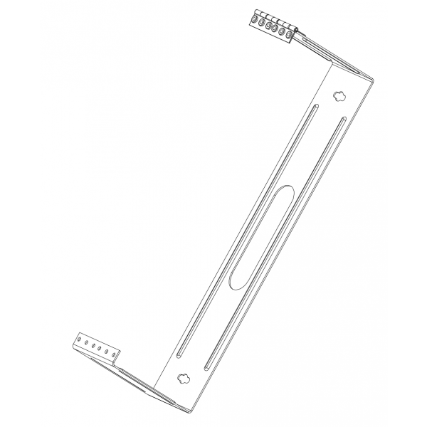 InstallerParts 2U Mounting Hinge for 48 Port Patch Panel 3.5 inch
