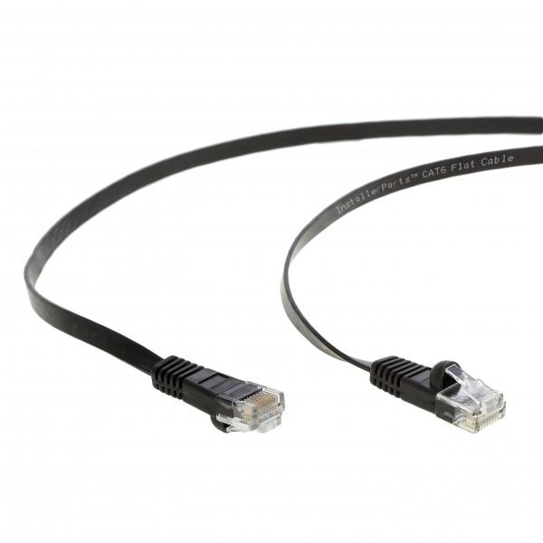 35Ft Cat.6 Flat Patch Cable Black