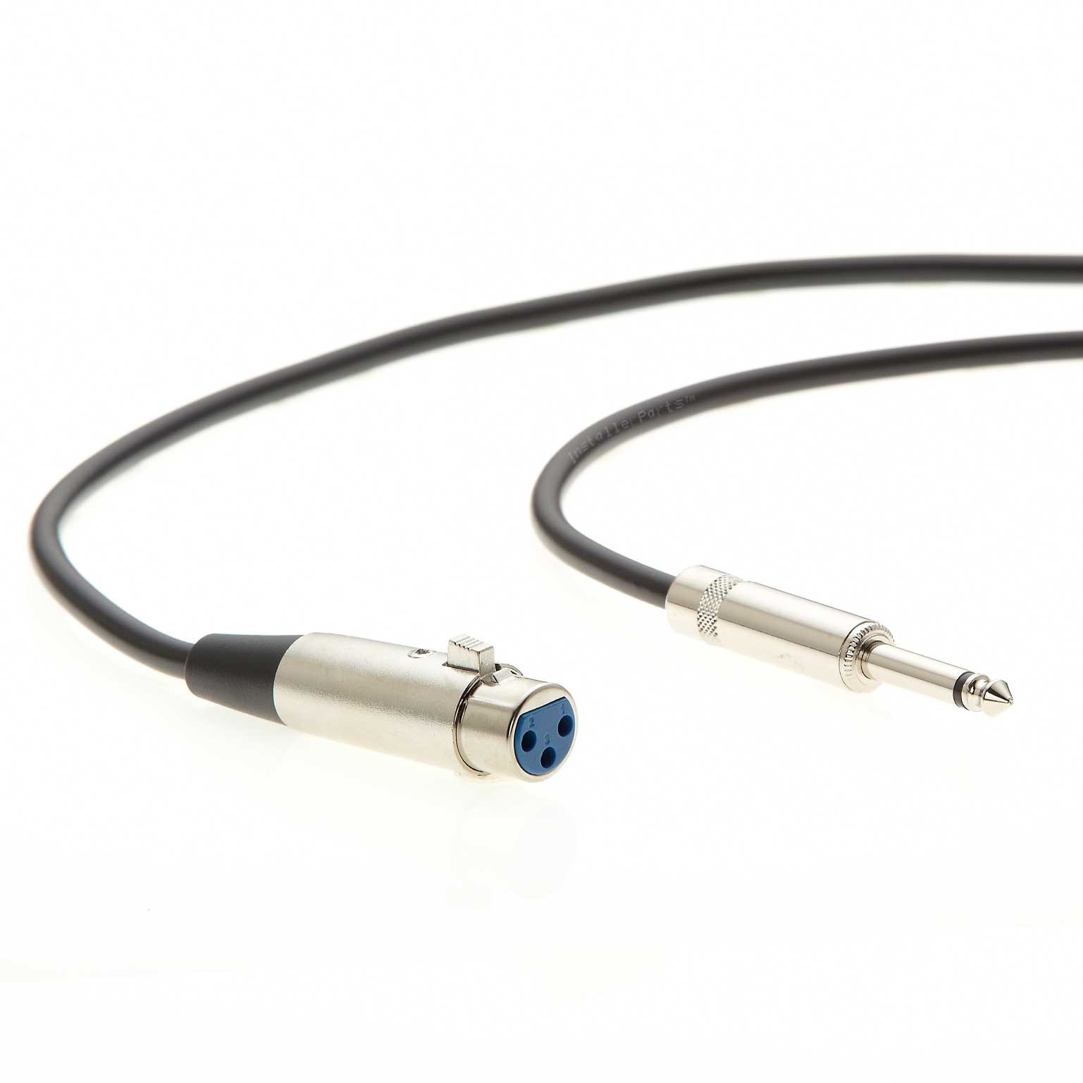 InstallerParts 100Ft 1//4 Mono Male to XLR Female Microphone Cable Compatible with Amplifiers and More! Instruments