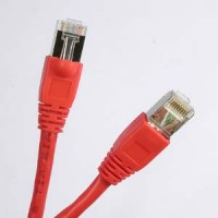 1Ft Cat.6A Shielded Patch Cable Molded Red