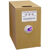 1000Ft Cat.5E Solid Wire Bulk Cable Purple CMR