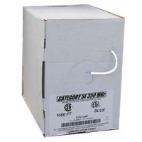 1000Ft Cat.5E Solid Cable Plenum White, UL/ETL/CSA