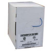 1000Ft Cat.5E Solid Shielded Plenum Blue, UL/ETL/CSA