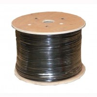 InstallerParts 1000 Ft Cat 6 Stranded Wire Bulk Cable Shielded Black