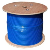 1000Ft Cat.6A 10G Solid Wire Bulk Cable Blue