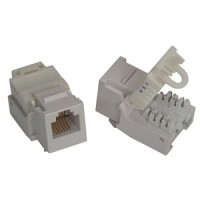 RJ11/12 (Cat.3) ToolLess Keystone Jack White