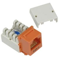 Cat.6 RJ45 110 Type Keystone Jack Orange