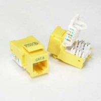 Cat.6 Tool Less Keystone Jack Yellow