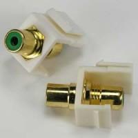 RCA Green F/F Keystone Module Ivory Plate