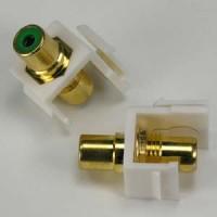 RCA Green F/F Keystone Module White Plate