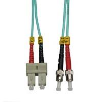 1m SC-ST 10Gb 50/125 LOMMF M/M Duplex Fiber Cable