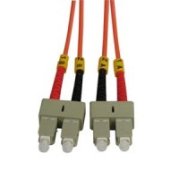 2m SC-SC Duplex Multimode 62.5/125 Fiber Optic Cable