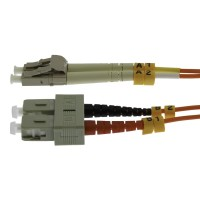 InstallerParts 0.3m LC-SC Duplex Multimode 62.5/125 Fiber Optic Cable
