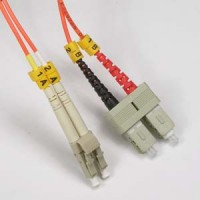 1m LC-SC Duplex Multimode 50/125 Fiber Optic Cable