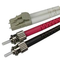 1m LC-ST Duplex Multimode 50/125 Fiber Optic Cable