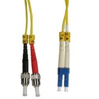 1m LC-ST Duplex Singlemode 9/125 Fiber Optic Cable