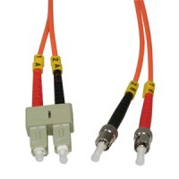 0.3m ST-SC Duplex Multimode 62.5/125 Fiber Cable