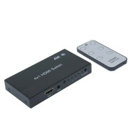 InstallerParts 4Way (4-in/1-out) HDMI Switch 4K x 2K 3D with IR Extension
