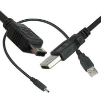 1Ft A-M/Mini 5Pin USB2.0 Cable