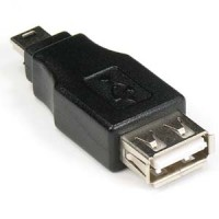 USB A-F/Mini B 5Pin-M Gender Changer