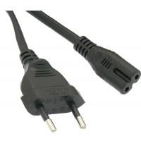 6Ft European Plug 2-Prong Figure-8 (Non-polarized) Power Cord