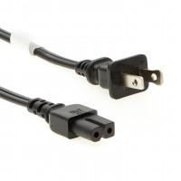 6Ft 2-Prong Polarized Power Cord NIMA1-15 to C7 18/2