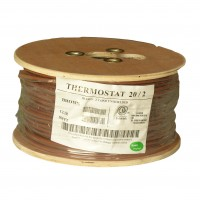 500Ft 20/2 Unshielded CMR Thermostat Cable Solid Copper PVC