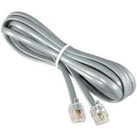 25Ft RJ11 Modular telephone Cable Straight