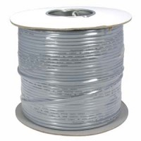 1000Ft UL 4 Conductor Silver Modular Cable Reel 26AWG