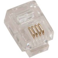 RJ11 (6P4C) Plug for Stranded Round Wire 100pk