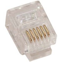 RJ12 (6P6C) Plug for Stranded Flat Wire 100pk