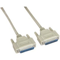 10Ft DB25 M/M Serial Cable 25C Straight