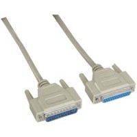 15Ft DB25 M/F Serial Cable 25C Straight
