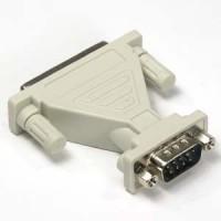 DB9-M/DB25-F Serial Adapter, Thumbscrew(DB25)/Nut(DB9)