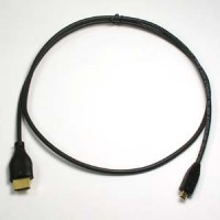 1Ft HDMI A-M to Micro(D)-M Thin Cable High Speed w/Ethernet 36AWG