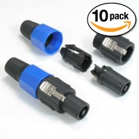 (10 Pack) Speak-On Male Connector