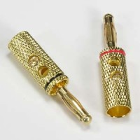 Banana Plug Gold Plated Metal Red
