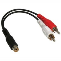 6inch RCA-Female to RCA-Male x2