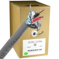 1000Ft Shielded 18AWG/2 Power CMR Gray