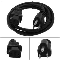 Otimo 1 Ft Computer Power Cord 5-15P to C-13 Black / SVT 18/3