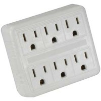 6 Outlet Wall Tap Two Input, AC125V/15A