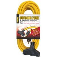 50Ft 12/3 Triple Tap Extension Cord