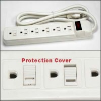 1.5Ft 6-Outlet 15A Power Strip, 14AWG