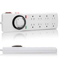 Otimo 5 Ft  8-Outlet  Surge Protector With Timer