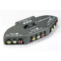 3 Way Audio Video (3RCA) Input Selector