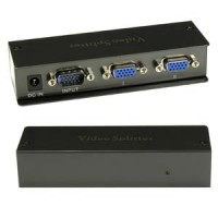 2Way VGA Splitter 350MHz Max 2048x1536 Resolution