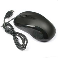 USB Optical Scroll Mouse Black