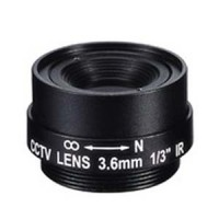 "3.6mm 1 Megapixel Fixed Iris F1.8 1/3"" CS Mount Lens"
